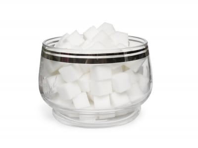sugar cubes in jar