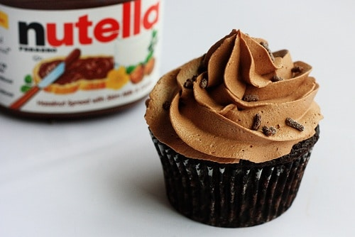 nutella frosted cupcake