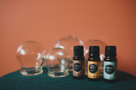 cups and essential oils