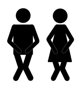 man and woman holding bladder due to overactive bladder