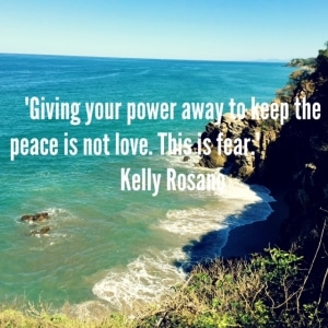 giving your power away to keep the peace is not love