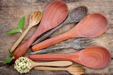 wooden cooking spoons, bpa free