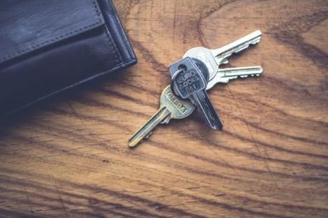 keys and wallet on desk