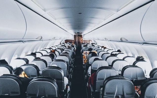 interior of airplane, healthy flying