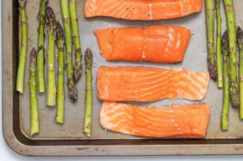 Some Salmon Fillet and Asparagus
